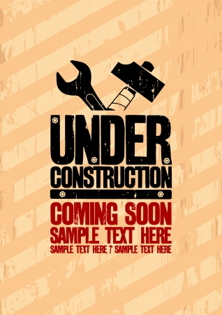 Under construction design template. Stock Vector - 22749013