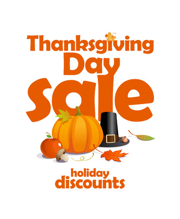 Thanksgiving day sale, holiday discounts design  Vector