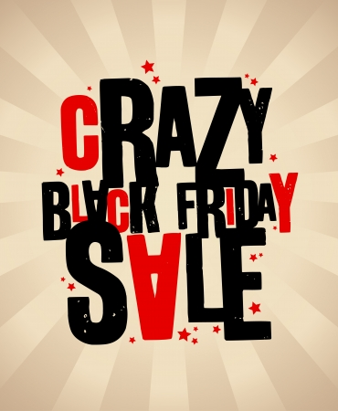 Black friday sale crazy banner  Vector