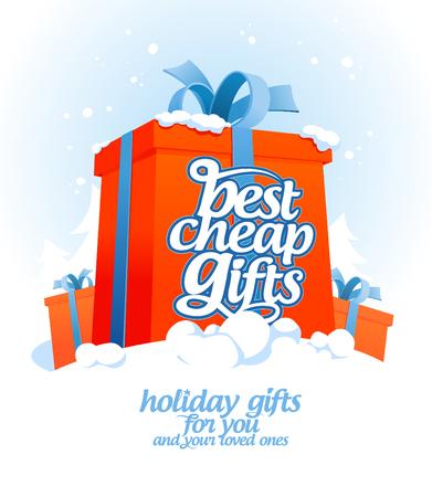 christmas savings: Best cheap gifts design template.