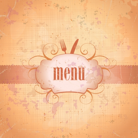 Retro restaurant menu card design template. Eps10. Vector