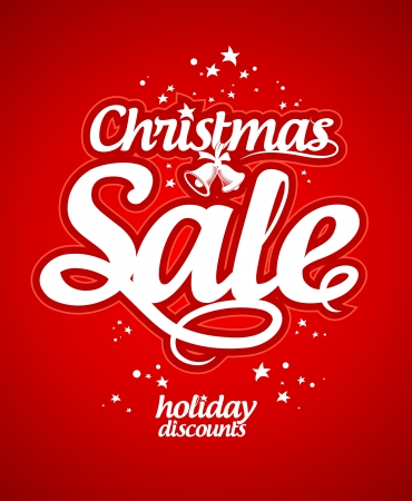 clearance sale: Christmas sale design template. Illustration