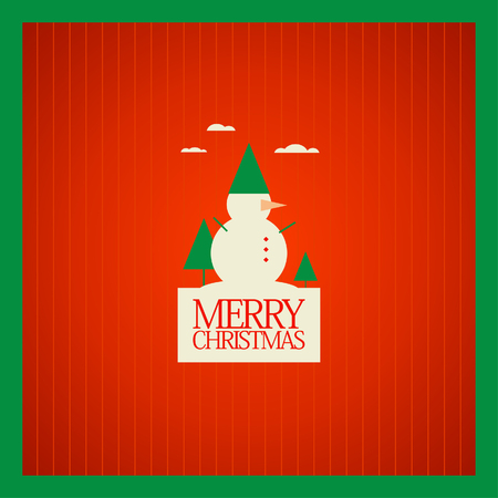 Christmas card design template. Vector