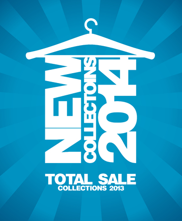 New collections 2014, sale 2013 design template. Vector