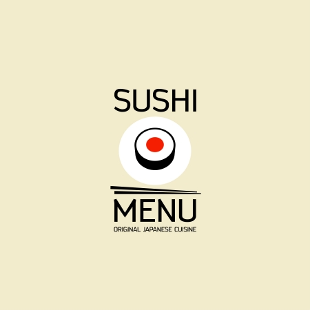 Sushi menu card design template. Vector