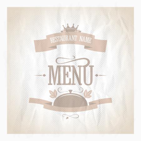 Royal vintage restaurant menu card design template. Eps10 Vector