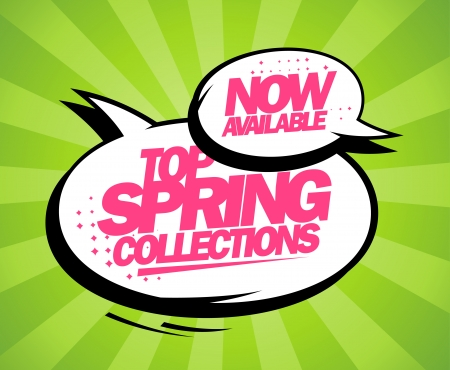 buy now: Top spring collections now available, pop-art design with balloons.