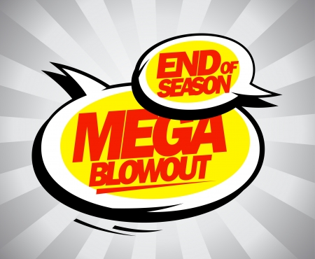 End of season mega blowout balloons in pop-art style. Stock Vector - 25528174