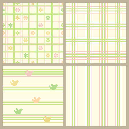 Seamless easter paper set.  Vector