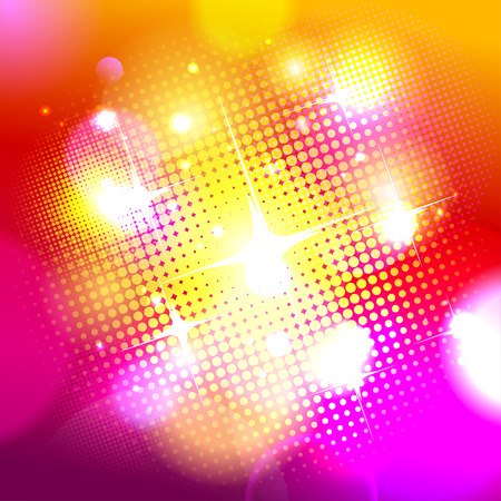 Bokeh background with pop-art dots