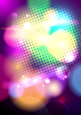 Bright pop-art bokeh background Illustration