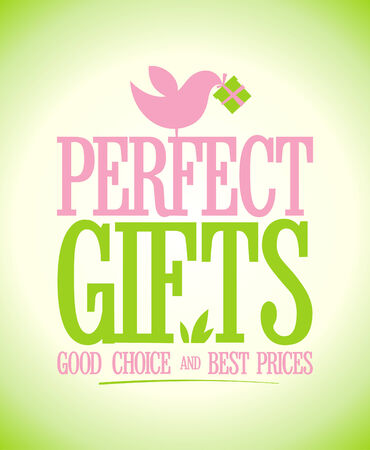 Perfect gifts design template. Vector