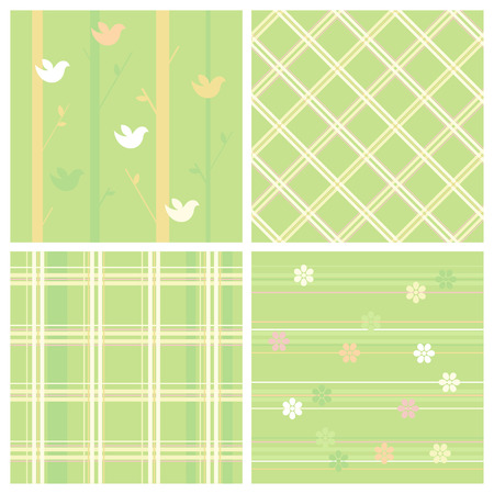 Set of seamless easter paper. Vector