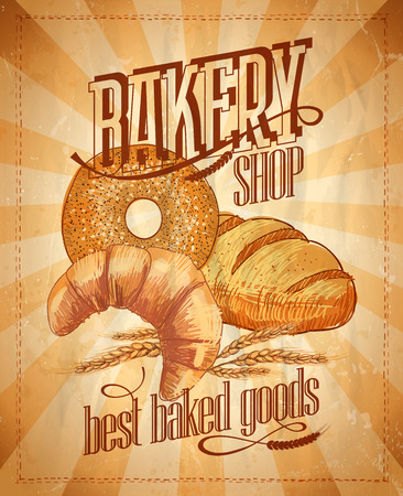 Bakery shop vintage design. Vector