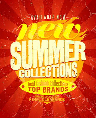 New summer collections design, retro style.  Vector