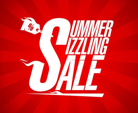 sizzling: Summer sizzling sale design template. Illustration