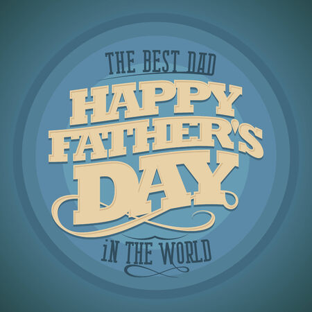 typographical: Happy Fathers day typographical background.