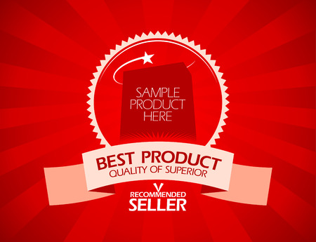 Best product recommended seller design template Vector