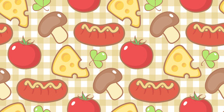 Seamless pattern with snack. Vector