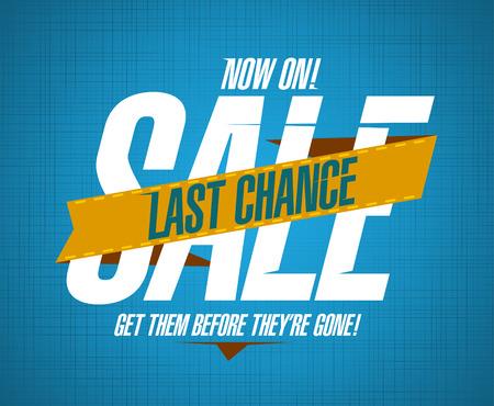 last chance: Last chance sale design template Illustration