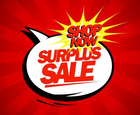 surplus: Surplus sale design in pop-art style.