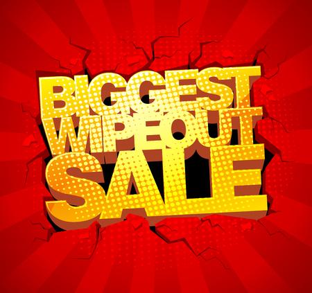 biggest: Biggest wipeout sale design. Illustration