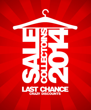 Sale collections 2014 text design. Vector
