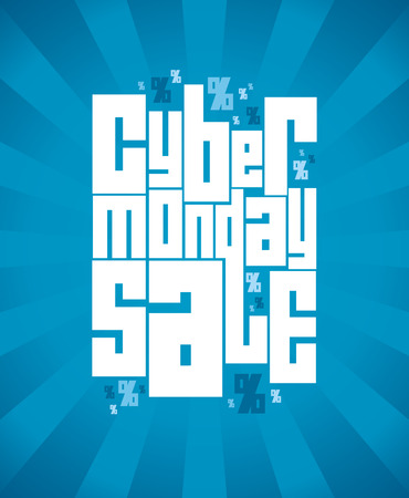 Cyber monday sale banner design. Vector