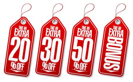 take: Take an extra bonus coupons tags.