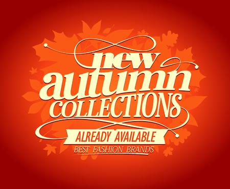 New autumn collections, best fashion brands design. Illustration