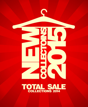 New collections 2015 banner, sale collections 2014. Vector