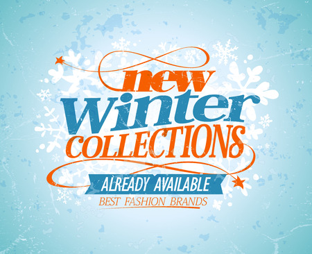 best ad: New winter collections design. Eps10