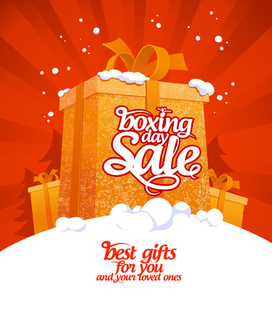 gift tag: Boxing day sale design.