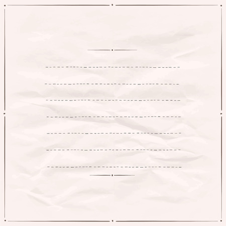 Paper with simple frame with place for text. Eps10 Vector