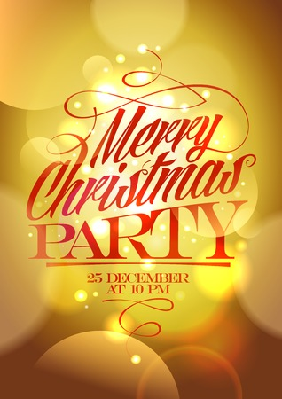 Merry Christmas party design. Eps10 Illustration