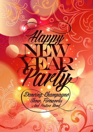 New Year Party vintage design. Eps10