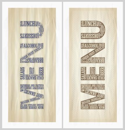 dl: Vintage restaurant menu cards set. Eps10