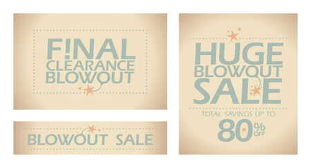 Final clearance blowout banners collection. Vector
