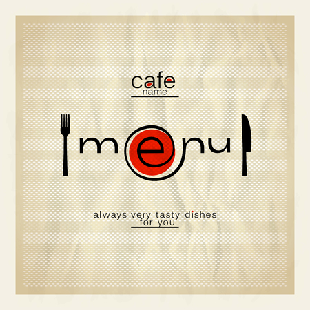 menu restaurant: Cafe menu modern design. Eps10 Illustration
