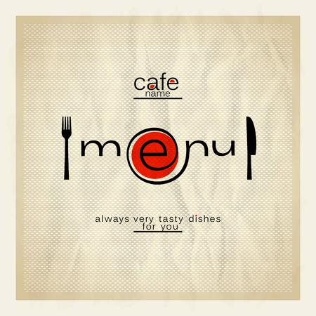 Cafe menu modern design. Eps10 Illustration