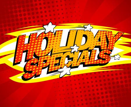 specials: Pop-art sale design - Holiday specials.
