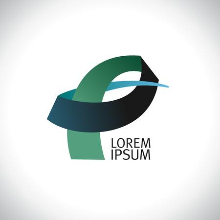 p illustration: Letter P vector logo template.