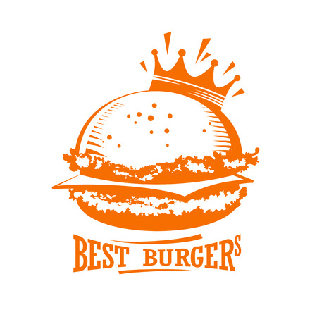restaurants: Best burgers graphic logo.