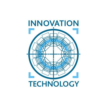혁신 기술 로고 개념입니다.