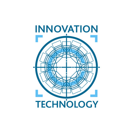 Innovatietechnologie logo concept.