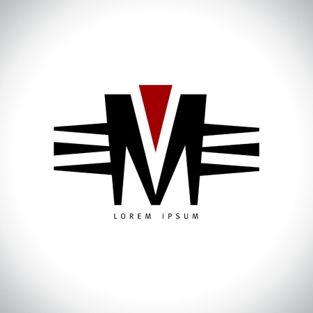 letter m vector template royalty free cliparts vectors and stock