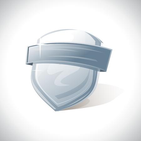 guardia de seguridad: Escudo de metal con la plantilla de la cinta.