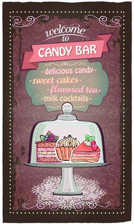 dessert buffet: Candy bar cute menu list.