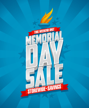 celebration day: Banner for Memorial day sale, storewide savings.
