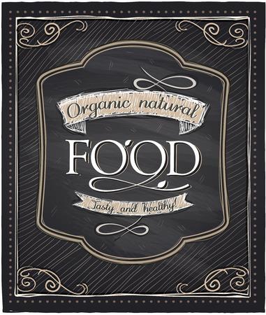 alimentacion natural: Dise�o de pizarra alimentos naturales org�nicos.